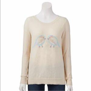 Lauren Conrad Sequin Bird Sweater